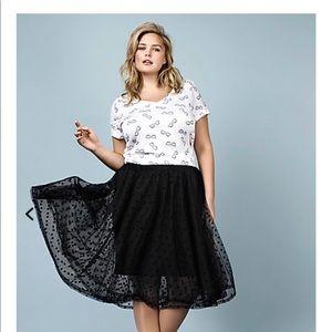 Rebel Wilson for Torrid Mesh Dot Midi Skirt